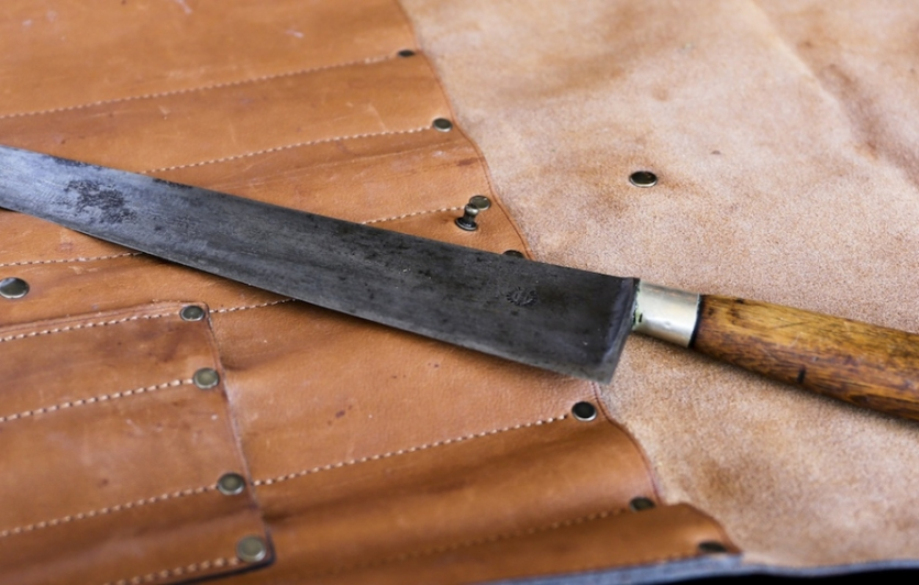 Chef Chase Seymour's antique french carbon steel knife