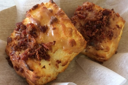 Early Bird Biscuit Co. and Bakery—peanut butter bacon biscuit