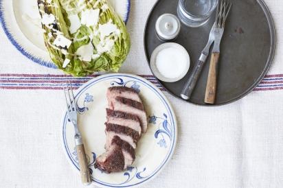 reverse sear steak grilled