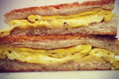Citizen bacon, egg and cheese torta