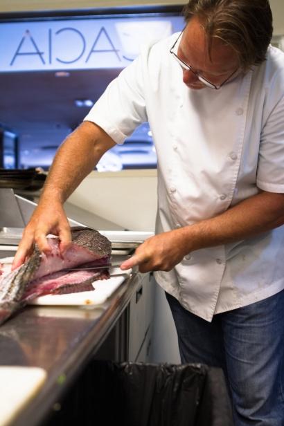 chef Dale Reitzer at Acacia Restaurant Richmond Virginia